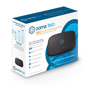 Ooma Telo in packaging.