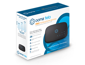 Ooma Telo product packaging.