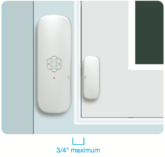 How to place your wireless window sensor alarm illustration.