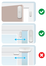How to place your door sensor illustration.
