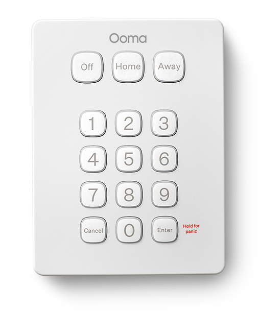 Ooma Telo device - top view.