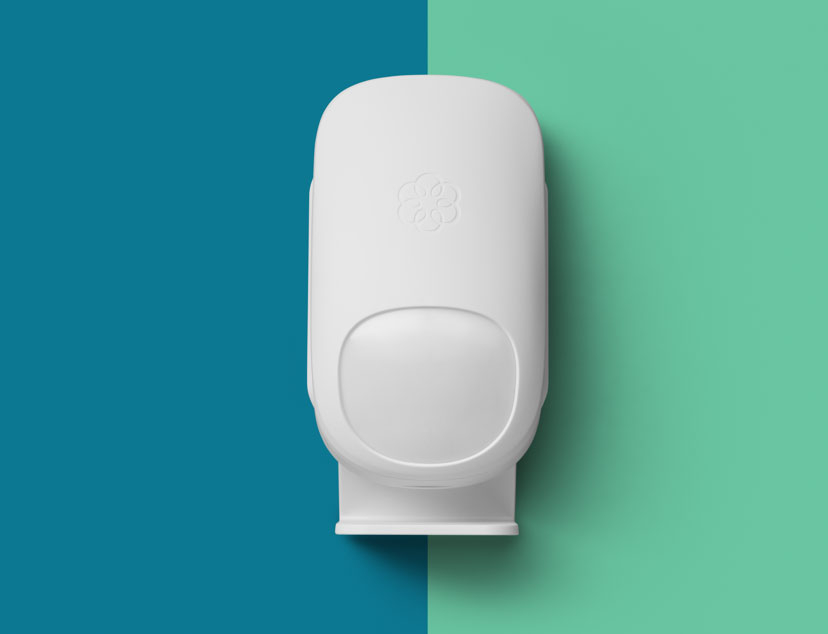 Ooma home security motion sensor.