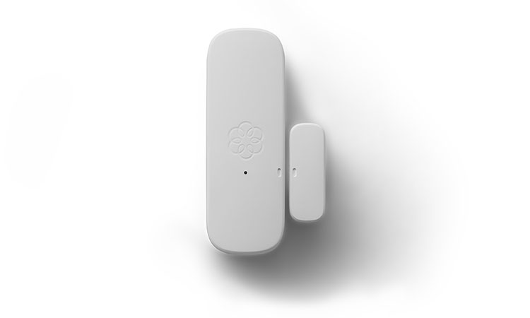 Door and window sensor in white.