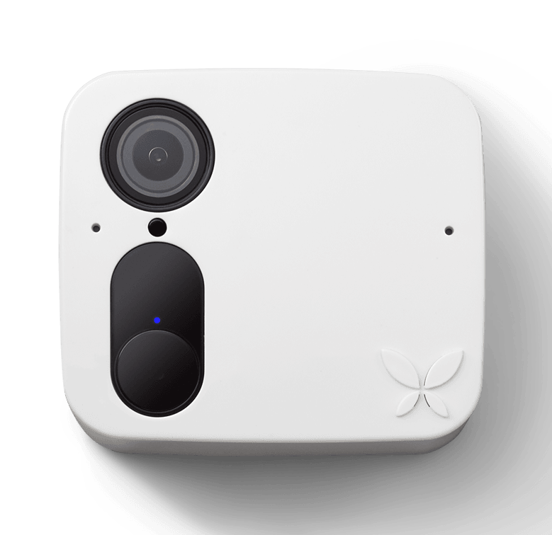 White home security camera by Ooma.