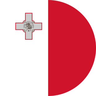 international flag of Malta Republic