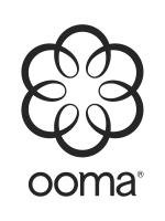 Ooma Logo Black White