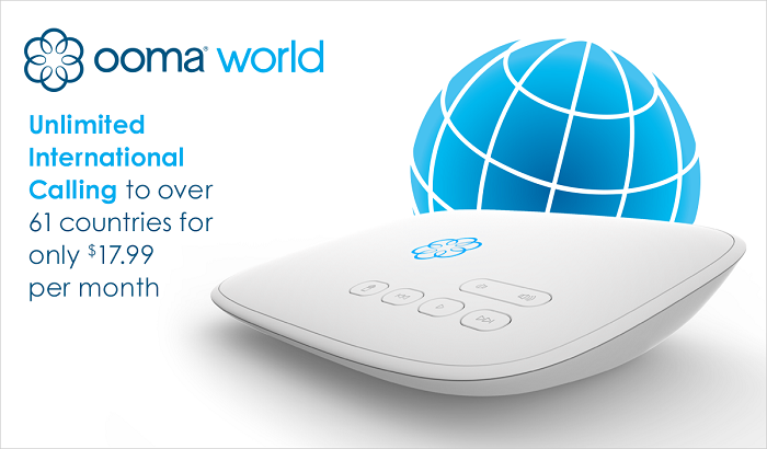 ooma world is available for international calling