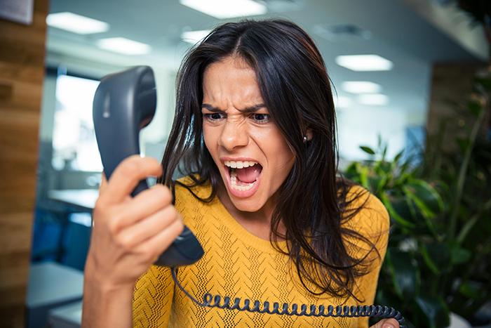 frustration of landline home phone