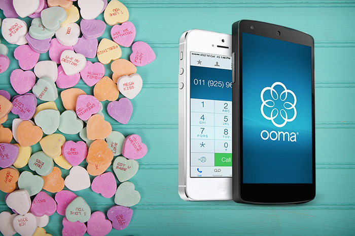 Ooma calling app Valentine's Day