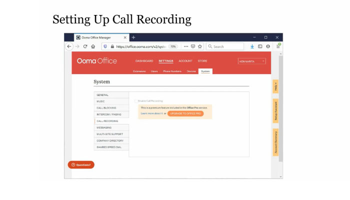 Play video: Call Recording
