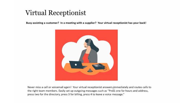 Play video: Virtual Receptionist