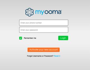 My Ooma login.
