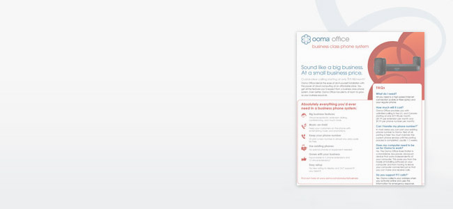 Ooma Office VOIP Brochure
