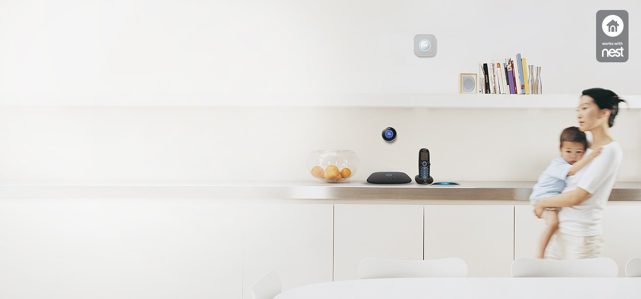 Ooma securely interacts with Nest devices so you get convenience and peace of mind never before possible with a home phone.